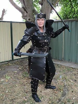 Leather Women gladiator armor complete set LARP SCA Halloween medieval armour