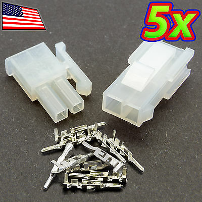 [5x] 4.2mm 5557-2R/5559-2P 1x2P PC Molex Automotive Wiring Harness Connector