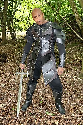 Leather Medieval Viking Warlord Armour Roman Warrior armor LARP SCA Halloween