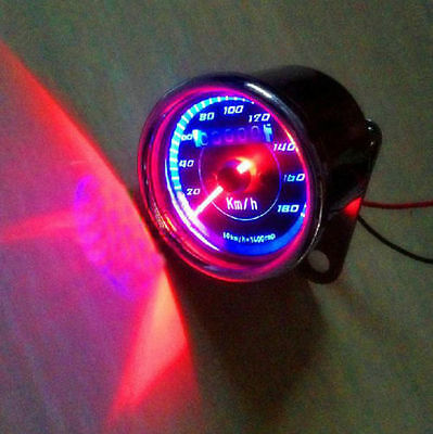 Double Color LED Light Universal Odometer Speedometer Meter For Motorcycle FBXD