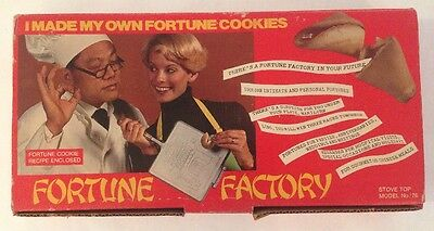 Vintage FORTUNE FACTORY Fortune Cookie Maker - Phoenix Cookie Company In Box