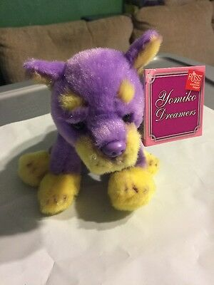 "NWT 5"" RUSS purple doberman dog YOMIKO DREAMERS series Soft & Cuddly DOBIE 3+"