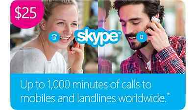 SKYPE AUD$25 Prepaid Card 20% off ( fast free e-delivery )