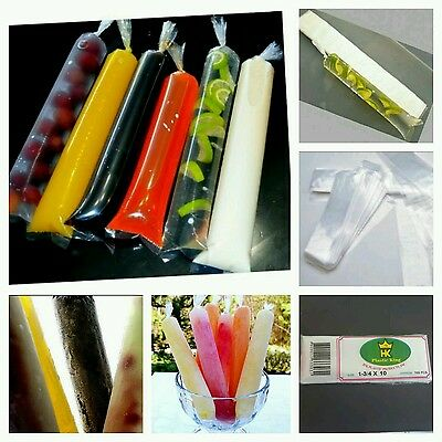 New-x100-Disposable Ice Pop bags,Ice Candy Bags,Ice Smoothie Bags-1.3/4x10 inch