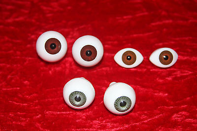 3 prs VINTAGE  Acrylic eyes for porcelain & OOAK dolls (20)