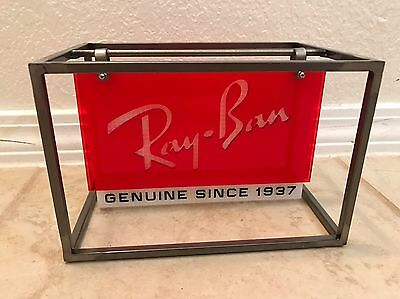 RAY-BAN Sunglasses Table Top Counter Advertisement Made In Italy Swing Sign
