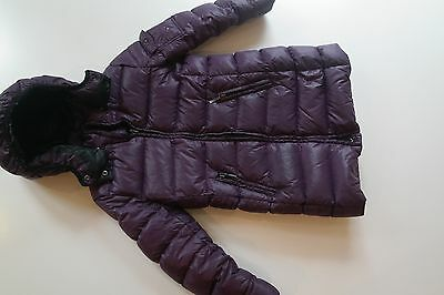 Purple Eddie Pen Real Down Coat for Girls age 8