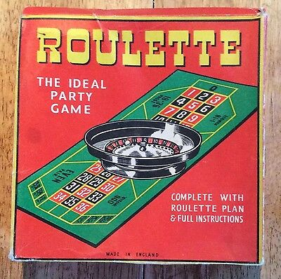 Vintage 1940's/50's Roulette Game - Complete with plan & full instructions