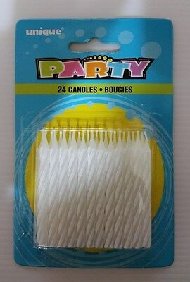 Birthday Candles (24 pcs)  White