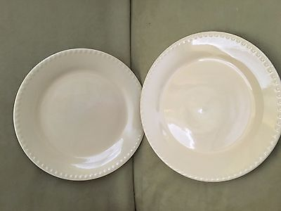 SLAH Gail Pittman Hospitality Collection Butter Yellow Dinner Plates S/2
