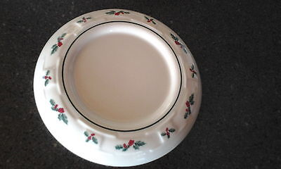 Longaberger Traditions Holly Berry Candle Holder Plate-NICE