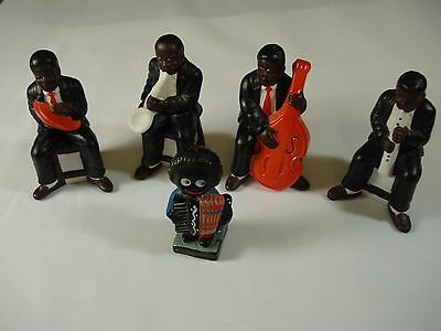 Black Americana, Jazz Band Player Figures, Vintage Robertson + 4 others