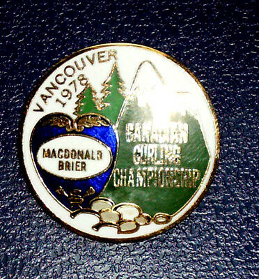 MacDonald Brier Curling Pin - Canadian Curling Championship Vancouver 1978