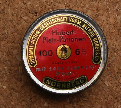 Blank Cartridge Tin Flobert-Platz-Patronen Germany Empty 100 Count