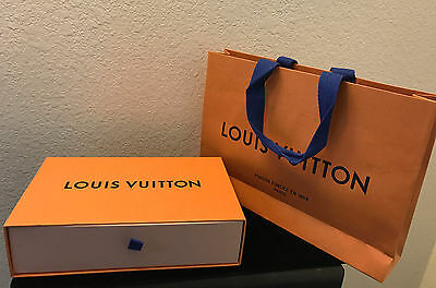 "Louis Vuitton Gift Box 9"" x 5.75"" x 2.25"" w/shopping bag – Authentic New Design"