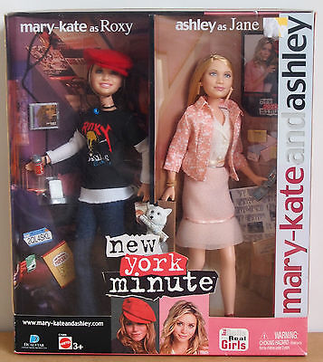 MARY-KATE & ASHLEY OLSEN 'New York Minute' REAL DOLLS (Mattel / Barbie) NIB
