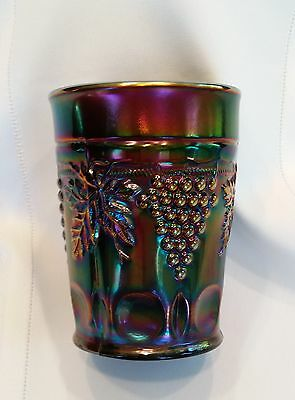 Vintage Carnival Glass Northwood Grape and Cable tumbler Amethyst