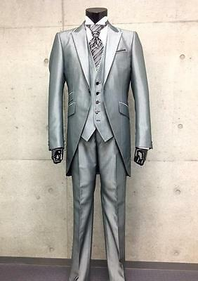 Bespoke Mens Morning Suits 3 Piece Tailorcoats Groomsmen Tuxedos Grooms Suit