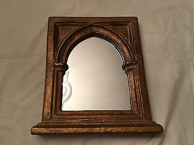 Kulicke Gothic Arch Mirror in Rectangular Frame Early 15th Century Italy