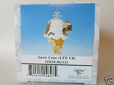 Charming Tails Snow Cone 2002 Limited Year # 86/121 Mouse Ornament MINT RARE!