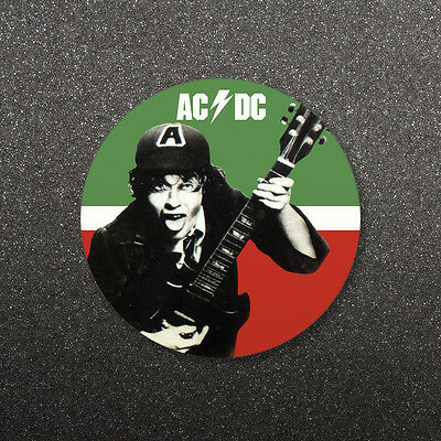 Ac/dc Live At Atlantic Studios Round Drinks Coaster Drinks Mat Cork Back