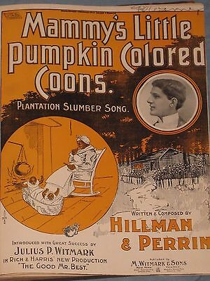 1890's-1900's Antique Sheet Music Book 50 Titles With Coon Songs Black Americana