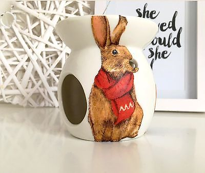 Winter Woodland Bunny Rabbit Oil Burner/Wax Melt Gift
