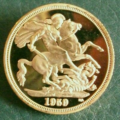 1959 PROOF SOVEREIGN Copy.  (FREE UK POSTAGE AVAILABLE)