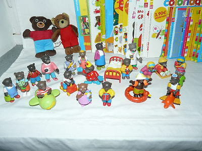 Lot Personnages figurines + magasines livres PETITS OURS BRUN Collection