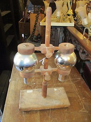 ORIGINAL Vintage Scientific apparatus glass and wooden assembly
