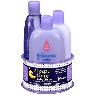 New & Sealed ~ Johnson's Sleepy Time Baby Gift Set Bedtime Bath Lotion & Shampoo