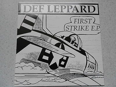 Def Leppard-First Strike E.p. Ultra Rare Red Vinyl In Mint Condition