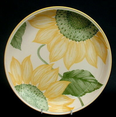 Staffordshire Sunflower Pattern Large Size Dinner Plates 25cm - Look in VGC