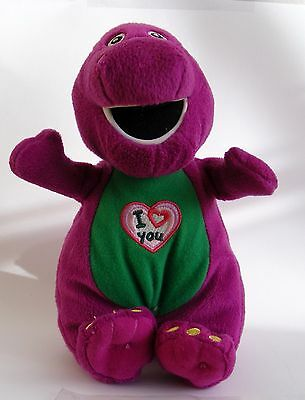 Barney Official 2007 Singing I Love You Soft Toy