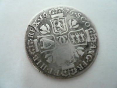 Scottish Silver Quarter Dollar, 1676, Charles II.