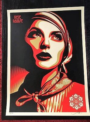 OBEY / Shepard Fairey: Rise above rebel, print signed