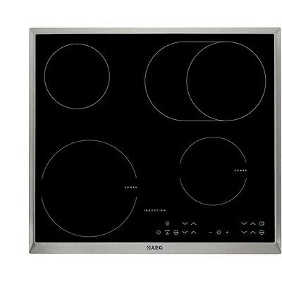AEG HK634150XB Integrated 60 cm Mixed Hob Induction/Electric Black Brand New!