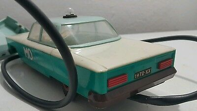 Vintage Military Police Toy Car 1970's Plastic And Metal Poland Remote Controled