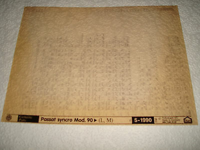 VOLKSWAGEN PASSAT SYNCRO MOD.90on (L.M) PARTS MICROFICHE FULL SET OF 1 MAY 1990