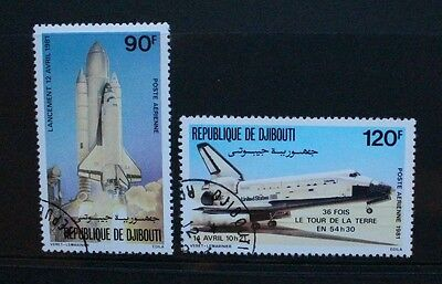 DJIBOUTI 1981 Space Shuttle. Set of 2. Fine USED/CTO. SG7824/825.