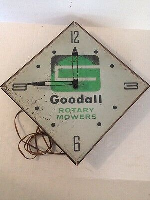 Goodall Rotary Mowers 1950's -1960's VINTAGE electric wall clock Pam Clock Co.