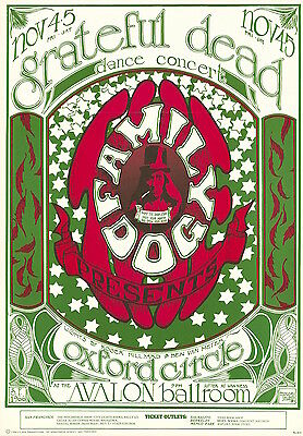 MINT Grateful Dead 1966 FD 33 LOGO Family Dog Avalon Poster
