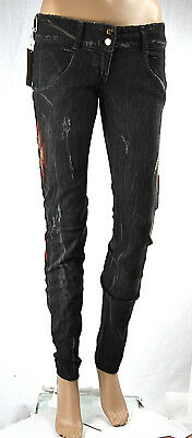 Jeans Donna Pantaloni MET Slim Fit Made in Italy CA29 Tg 26 28 30