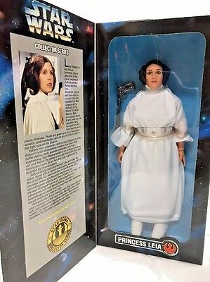 "PRINCESS LEIA Star Wars 12"" Figure Carrie Fisher Collector Series Doll NEW 1996"