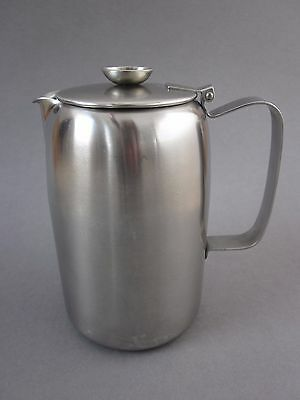 Retro Vintage OLD HALL 18-8 Stainless Steel Coffee Pot / Hot Water Jug 1 ¾ Pint
