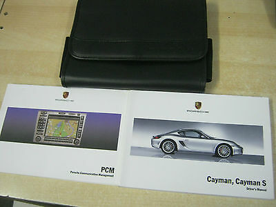 PORSCHE CAYMAN & CAYMAN  S OWNERS MANUAL HANDBOOK PACK 2005-2009 inc pcm SAT ANV