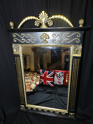 French Empire Rococo Garlands Antique Style Pier Glass Beveled Gilt Mirror