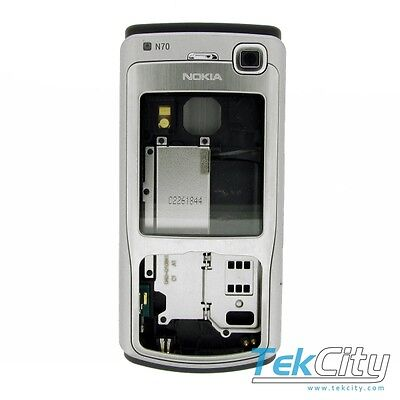 Genuine Original Nokia N70 Chassis Housing Fascia Full Complete Silver