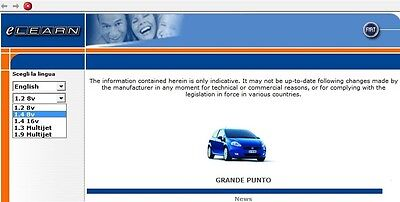 Fiat Grande Punto Elearn Repair And Service Manual  1 Day Delivery