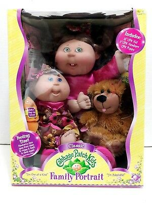 2007 New Classic Cabbage Patch Kids Oiriginal Think Family Portrait Doll Set